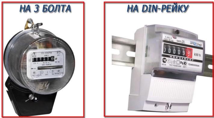 Тип установки электросчетчика